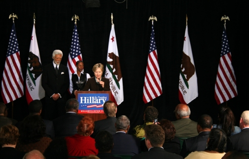 Sen. Clinton Campaigns at Laney College
